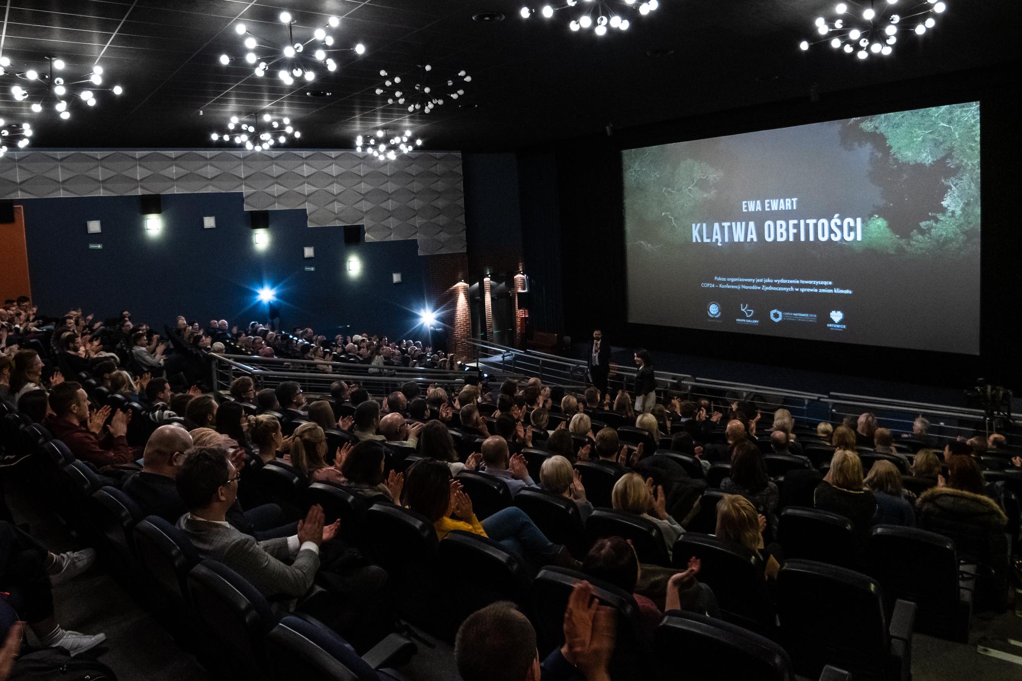 """Premiera filmu """"Klątwa obfitości"""" w katowickim Kinie Kosmos 10.12.2018 podczas COP 24"""
